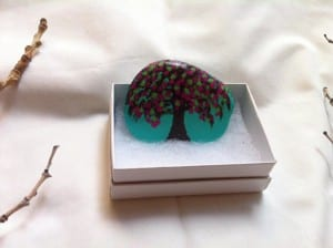 Tree Blossom Painted Rock May 2016