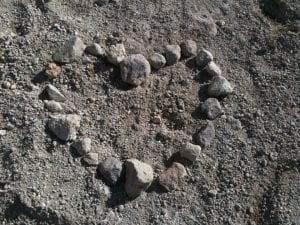 Heart Shape out of Rocks Above Damonte Ranch February 2013