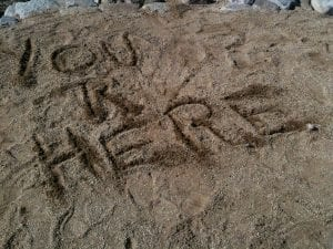 You Are Here in Sand 2.13.13