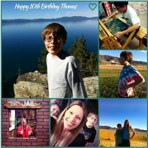 Happy 10th Birthday Thomas